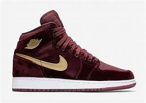 Air Jordan 1 Velvet Night Maroon Gold Sneaker Bar Detroit