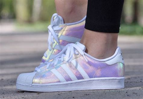 Iridescent Adidas Superstar Shoes // Available From Shoe