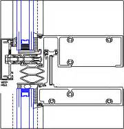 stack joint detail yuw 750 xt 08 44 13 curtain wall