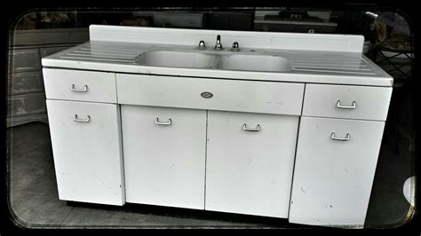 6 Foot Old White Metal Sink With