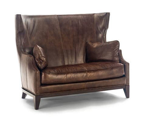 High Back Settee Sale by Herit Leather High Back Settee By Hom Furniture