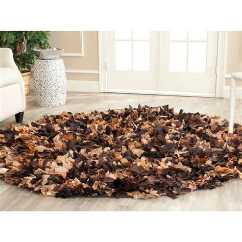Brown Shag Area Rug by Safavieh Shag Brown Multi 6 Ft X 6 Ft Area Rug