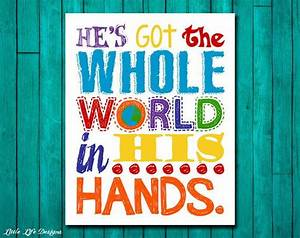 Cute Chore Chart He 39 S Got The Whole World In His Hands Nursery Decor Kids