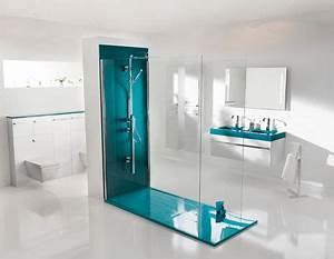 Modeles de douche a l39italienne creation bain for Carrelage adhesif salle de bain avec led extra plat