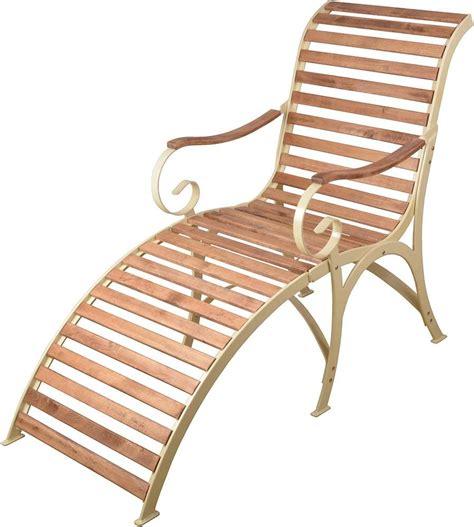chaise longue en bois chaise longue en bois et m 233 tal cr 232 me