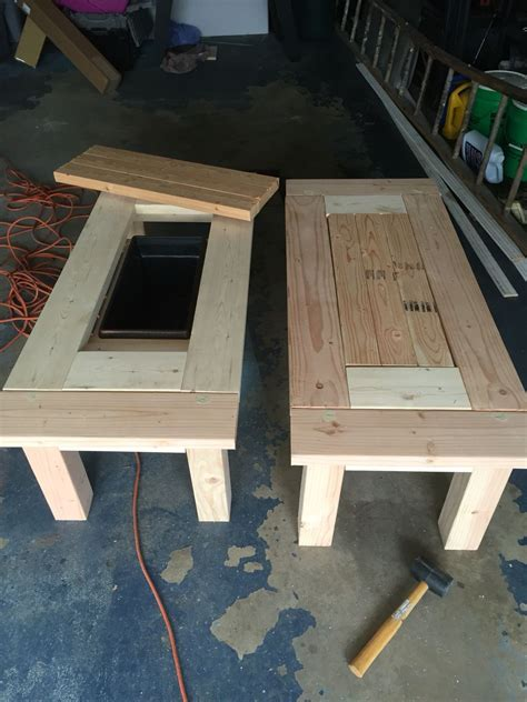 great patio coffee tables  coolers diy pinterest