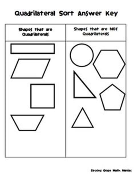 sort quadrilaterals worksheet worksheets for all