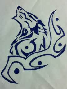 Tribal Wolf Tattoo Drawing