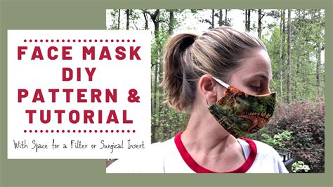 face mask pattern diy tutorial  pocket