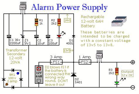 build  alarm power supply  battery