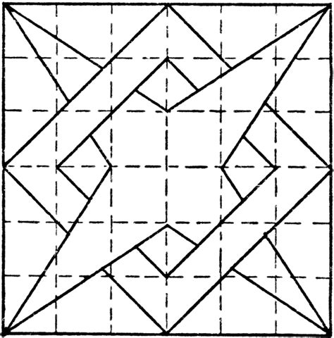 constructing  point star overlapping box pattern
