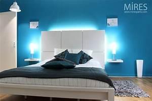 chambre moderne bleu chambre a coucher design deco With couleur chambre de nuit