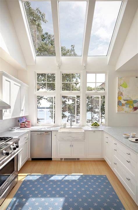 stunning kitchens with big windows 25 captivating ideas for kitchens with skylights 25