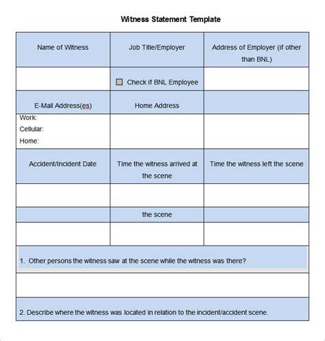 witness statement template 9 sle witness statement templates pdf doc free premium templates