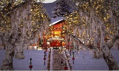 Christmas Scenes Merry Animated Snow Winter Village