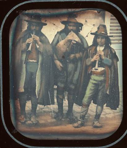 December Daguerreotype Stereoscopic 1852 Musicians Colored Animated
