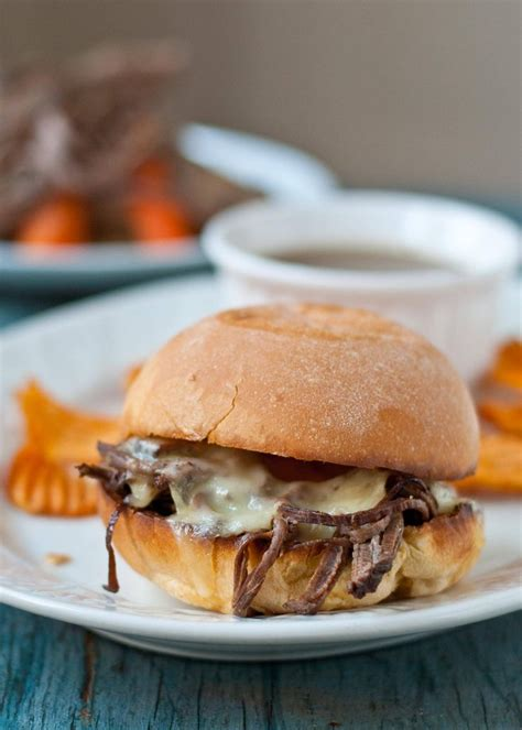 Slow Cooker Beef Brisket French Dip Sandwiches | NeighborFood | Recipes, Slow cooker beef, Slow ...