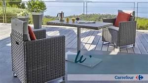 Meuble De Jardin Carrefour : ligne rio le mobilier de jardin by carrefour collection 2015 youtube ~ Teatrodelosmanantiales.com Idées de Décoration