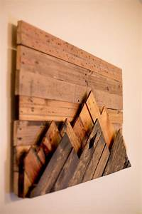 25 best ideas about wood art on pinterest pallet wall With kitchen cabinets lowes with large pallet wall art