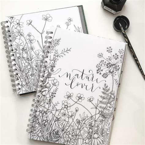 bullet journal drawing idea flower drawings floral