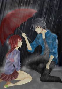 Anime Couples Hugging In The Rain Drawings - Under Town