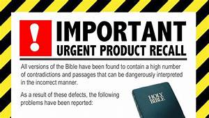Product Recall Issued For Bible Amid Health And Safety