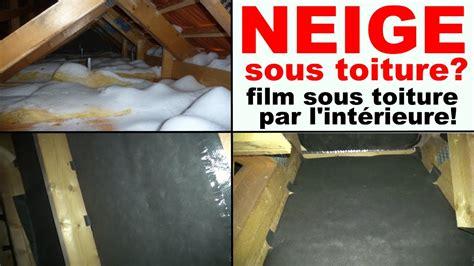 neige sous toiture tuile comble infiltration de neige poudreuse par le toit
