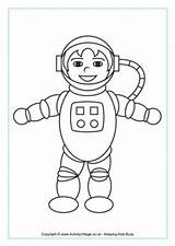 Astronaut Colouring Coloring Space Pages Astronauts Printable Boy Blank Toddler Rocket Smiling Activityvillage Activity Village Explore Colours Word sketch template