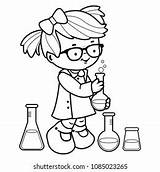 Coloring Science Laboratory Shutterstock These sketch template