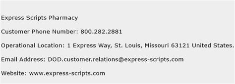 phone number for express scripts express scripts pharmacy customer service phone number