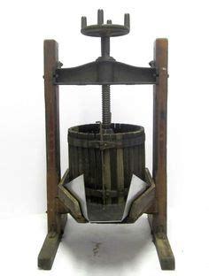 large heavy antique vtg fruit crusher wine making grape grinder primitive folk wine folk
