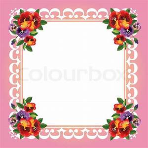 Vector frame with beautiful flowers Stock Vector Colourbox