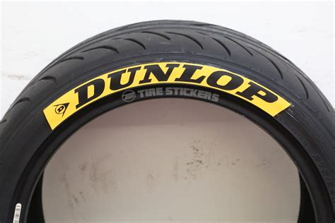 dunlop tire lettering letters tire stickers