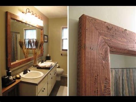 creative ideas  framing  bathroom mirror youtube