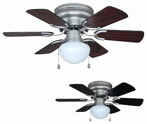 Satin nickel quot hugger ceiling fan with light kit