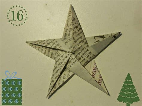Fünfzackiger Falten by Diy Weihnachtliche Origami Sterne Aus Zeitungspapier