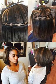 Bob Sew in Weave Hairstyles for Black Wom…
