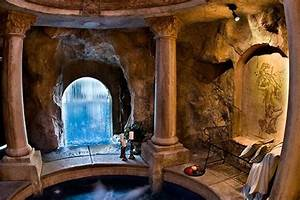 Hidden Grotto Hot Tub under the Waterfall | Pools ...