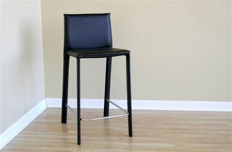 black leather counter height stool wholesale