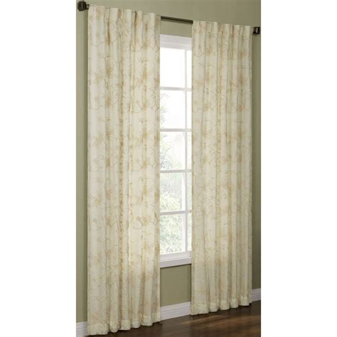 light filtering privacy curtains shop allen roth elmbridge 95 in polyester back tab light