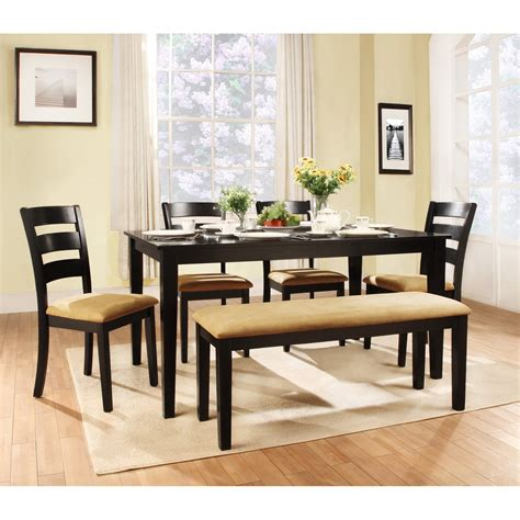bench style table and chairs modern bench style dining table set ideas homesfeed