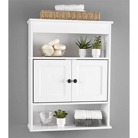 cabinet wall bathroom storage white shelf organizer