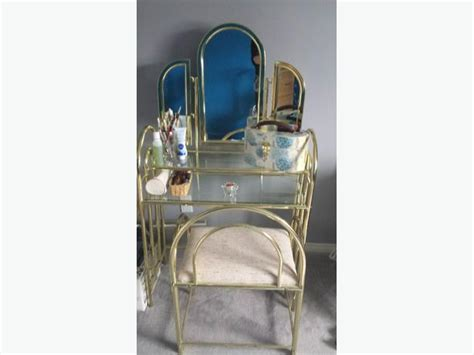 Glass Bedroom Vanity by Brass And Glass Makeup Vanity Table Nepean Gatineau