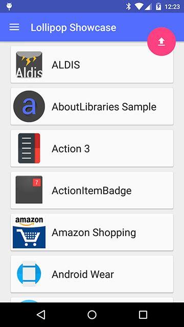 android arsenal library demos lollipopshowcase