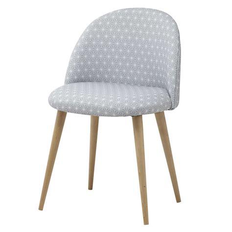 chaise vintage maison du monde grey fabric vintage chair mauricette maisons du monde