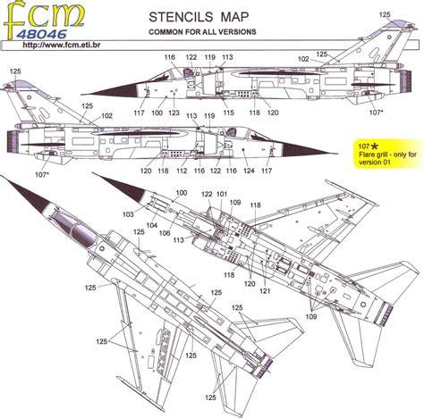 Fcm Decals 1/48 Dassault Mirage F.1 Jet Fighter Part 1