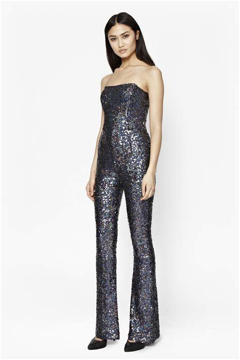 sparkle jumpsuit connection lunar sparkle sequin jumpsuit in black
