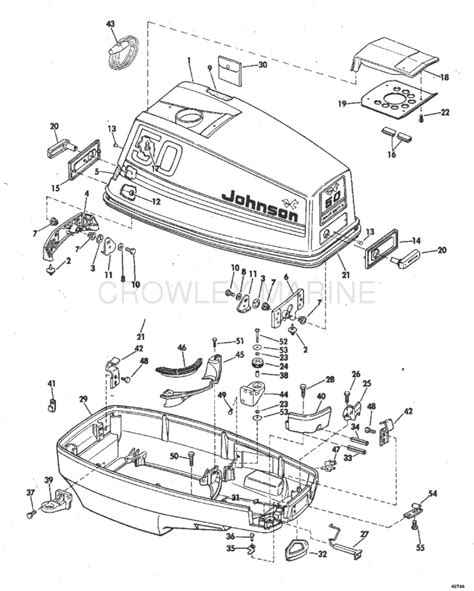 Boat Motor Covers Johnson by Motor Cover Johnson Oem Parts Iboats