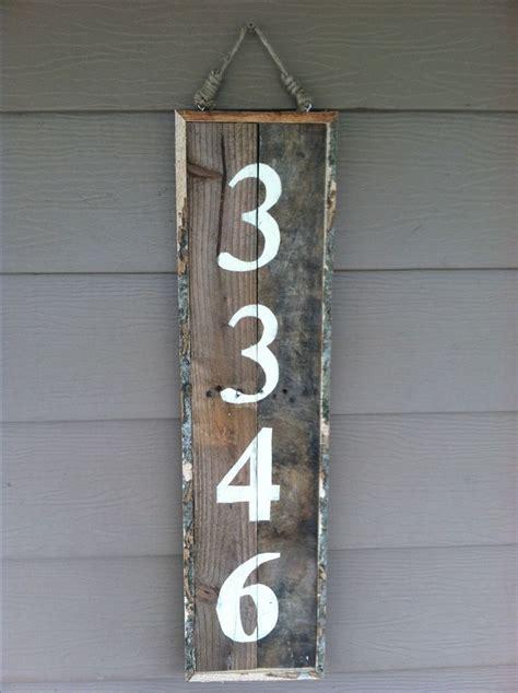 address sign   reclaimed pallet wood pallet