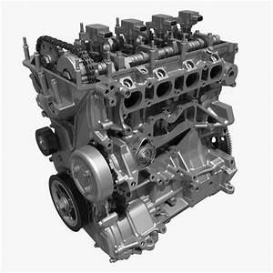 4 Cylinder Engine Block 01 3d Model Max Fbx
